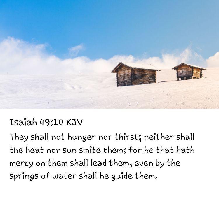 Isaiah 4910 kjv isaiah 10 things
