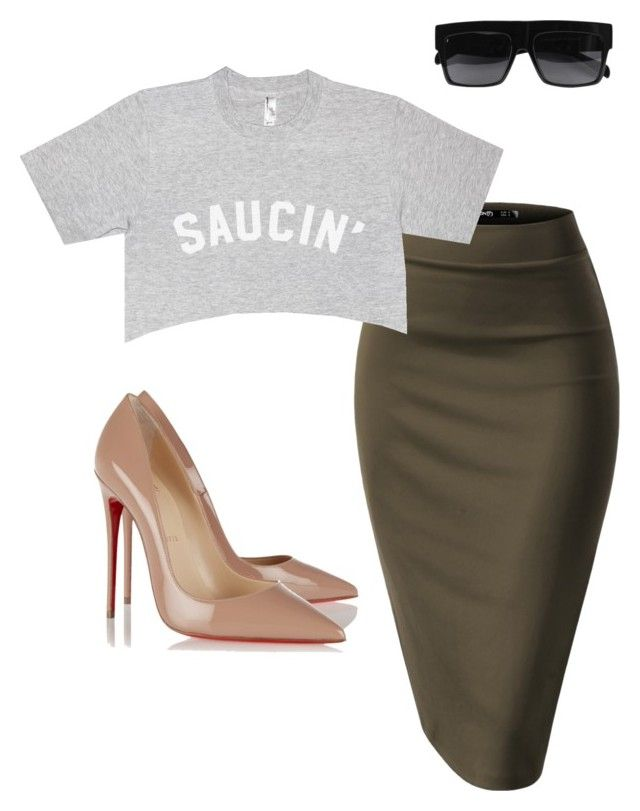 """""""Saucin'"""" by purlove on Polyvore featuring CÉLINE and Christian Louboutin"""