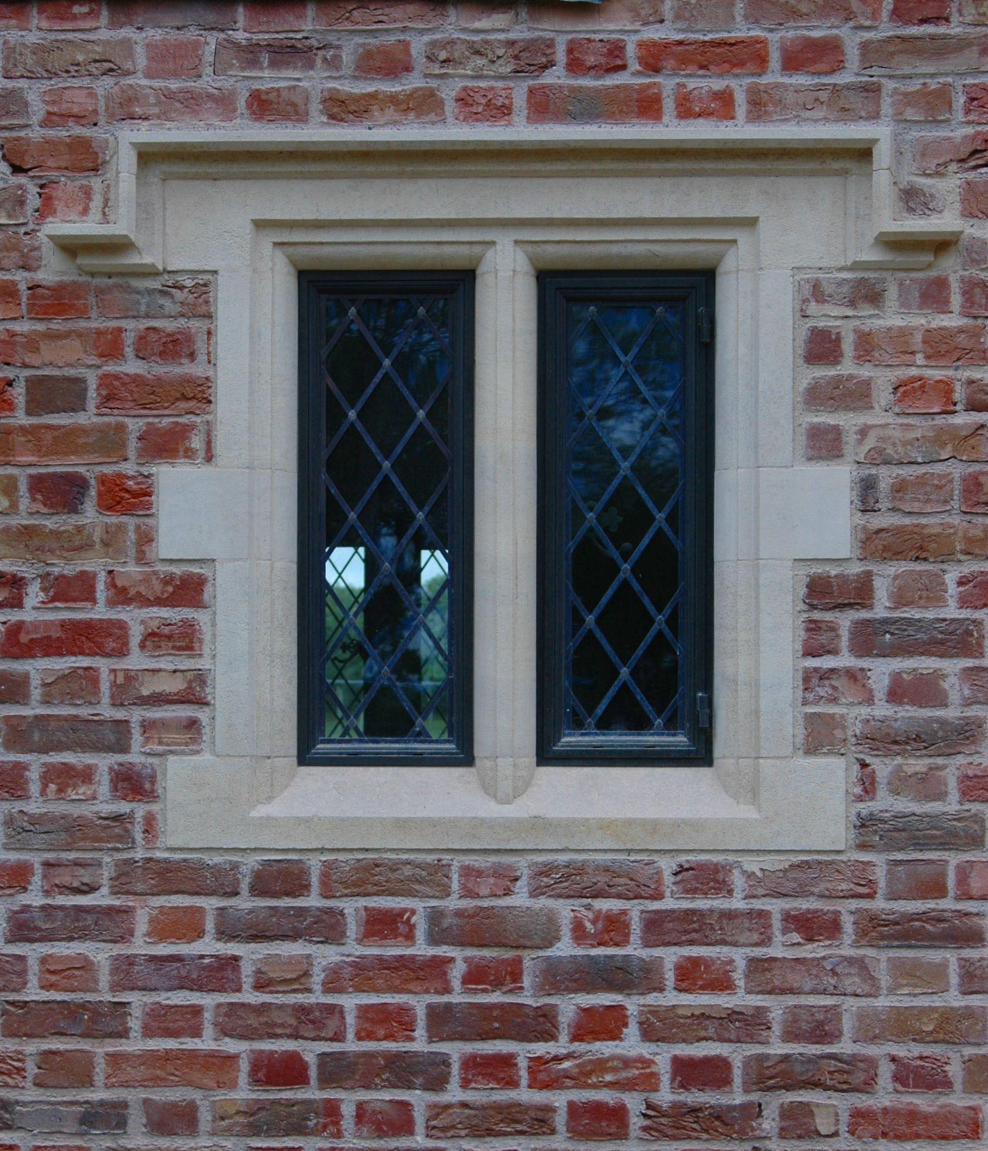 Stone Window Frame Bronze Casements And Brick Window Design Window Frame Brick