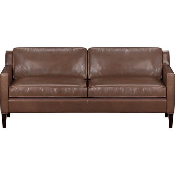 Vaughn Leather Apartment Sofa In Chairs Crate And Barrel