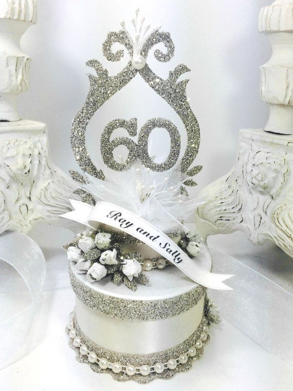 60th Wedding Anniversary Cake Topper Keepsake Box in 2018 | Recipes ...