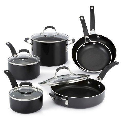 Calphalon Kitchen Essentials 10 piece Black Nonstick ...