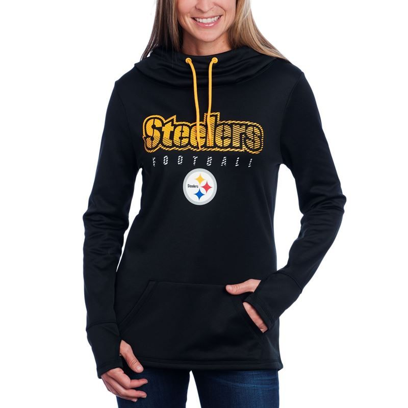 Shop the Official Steelers Pro Shop for Pittsburgh Steelers Women s  Majestic Speed Fly Fleece Hoodie 07e8199f0