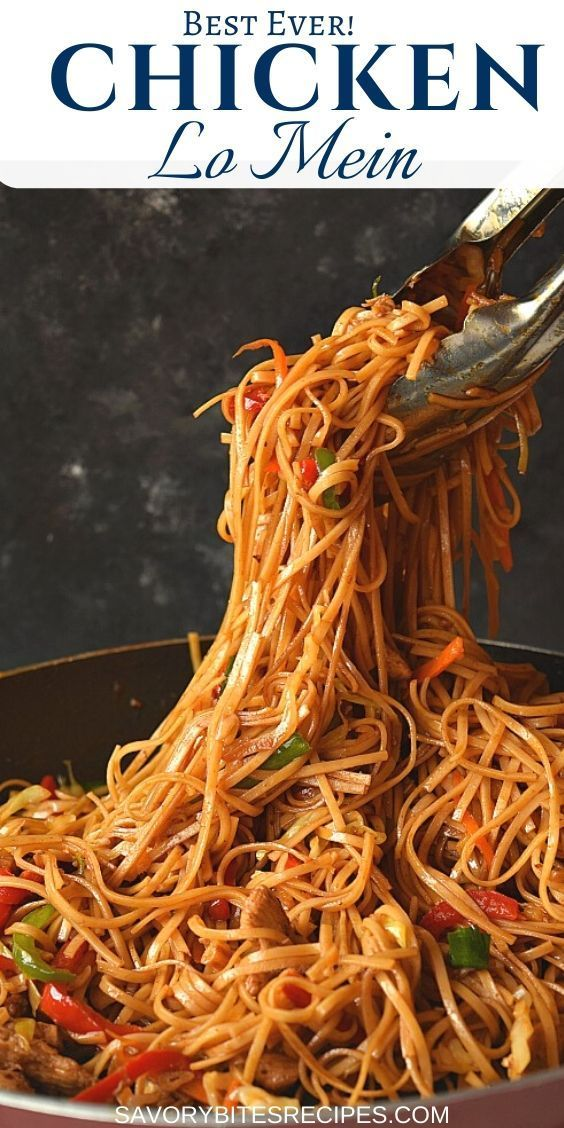 Photo of Better Than Takeout – Chicken Lo Mein!