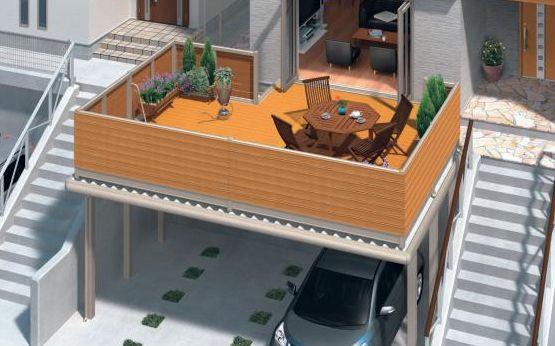駐車場上ウッドデッキ Google 検索 模様替え 家 ハウスデザイン