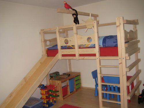 Etagenbett Mit Babybett : Hochbett kinderbett etagenbett babybett abenteuerbett hochbetten