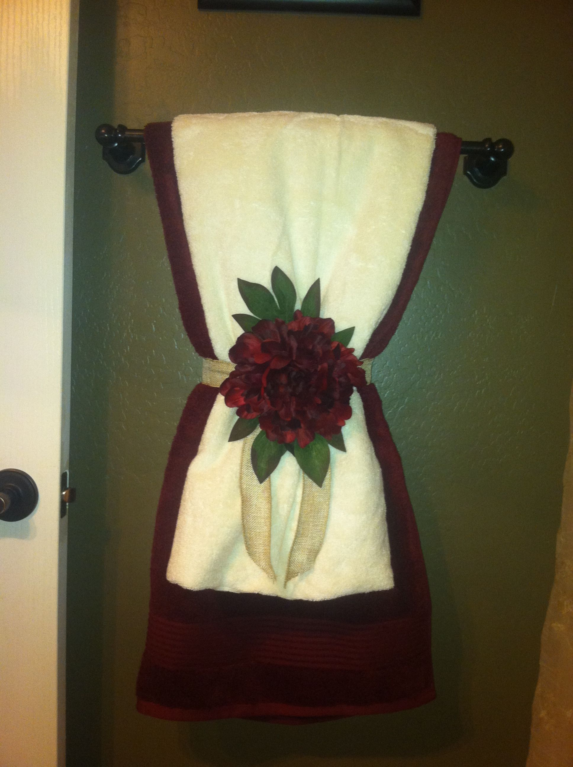 My Towel Decor : ) Beautiful! Do 2 Of These On Towel Bar.