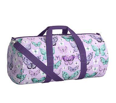 Mackenzie Lavender Pretty Butterfly Duffle Bag  7b999005078ec