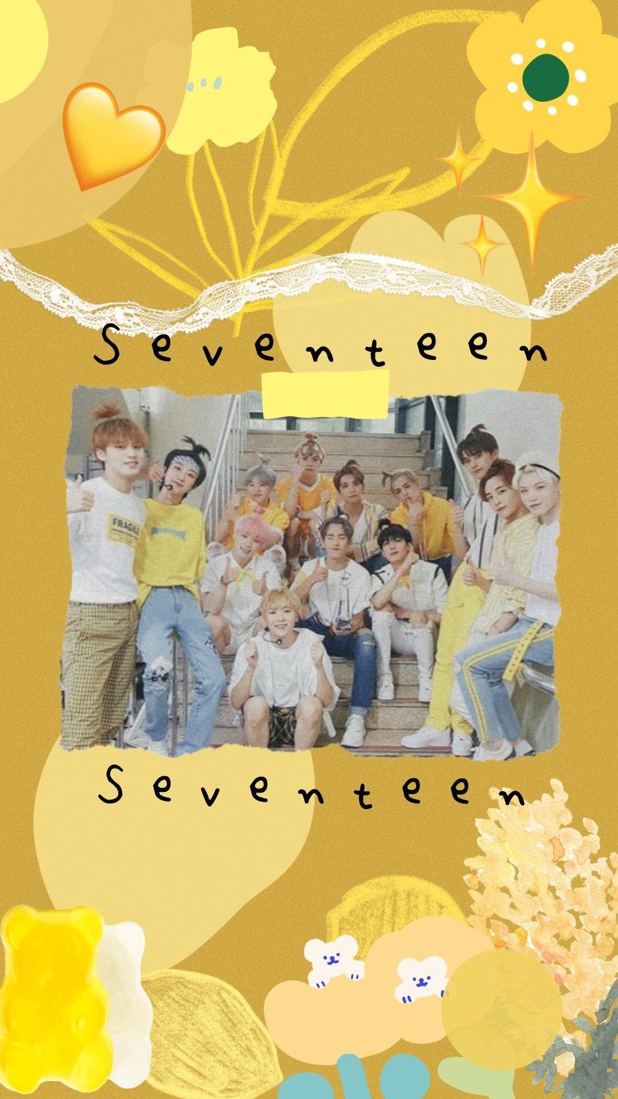 Seventeen Yellow Lockscreen Wallpaper Di 2021