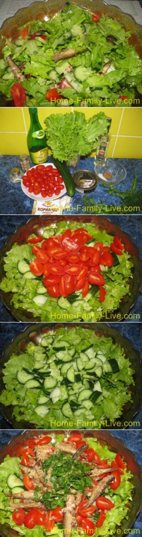 Салат из шпрот/Сайт с пошаговыми рецептами с фото для тех ...