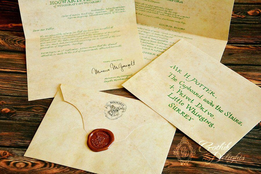 Hogwarts Acceptance letter, Harry Potter or custom! by