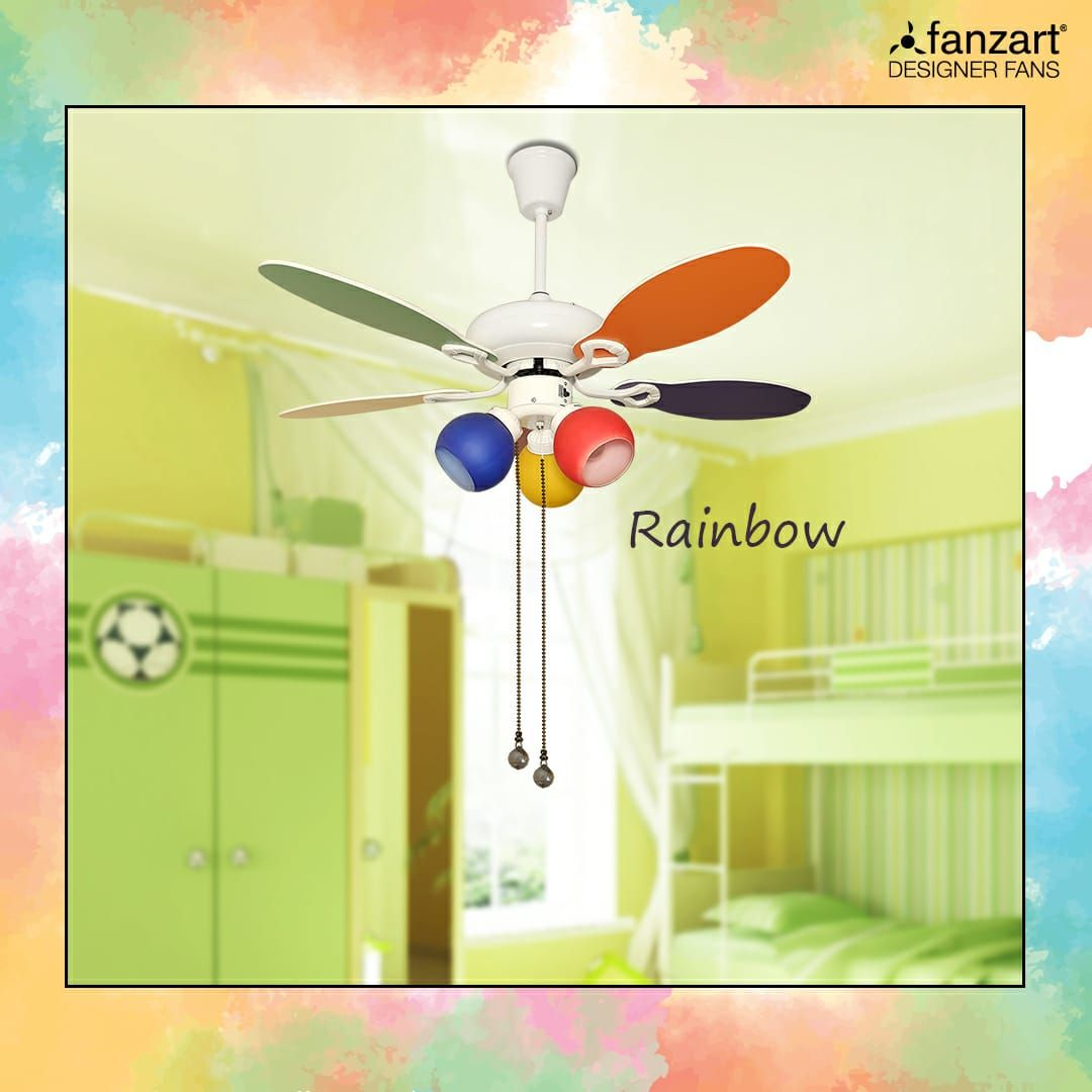 Find Rainbow A Vibrant Colorful Designer Ceiling Fan For