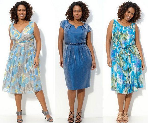 Крой летних платьев для полных женщин