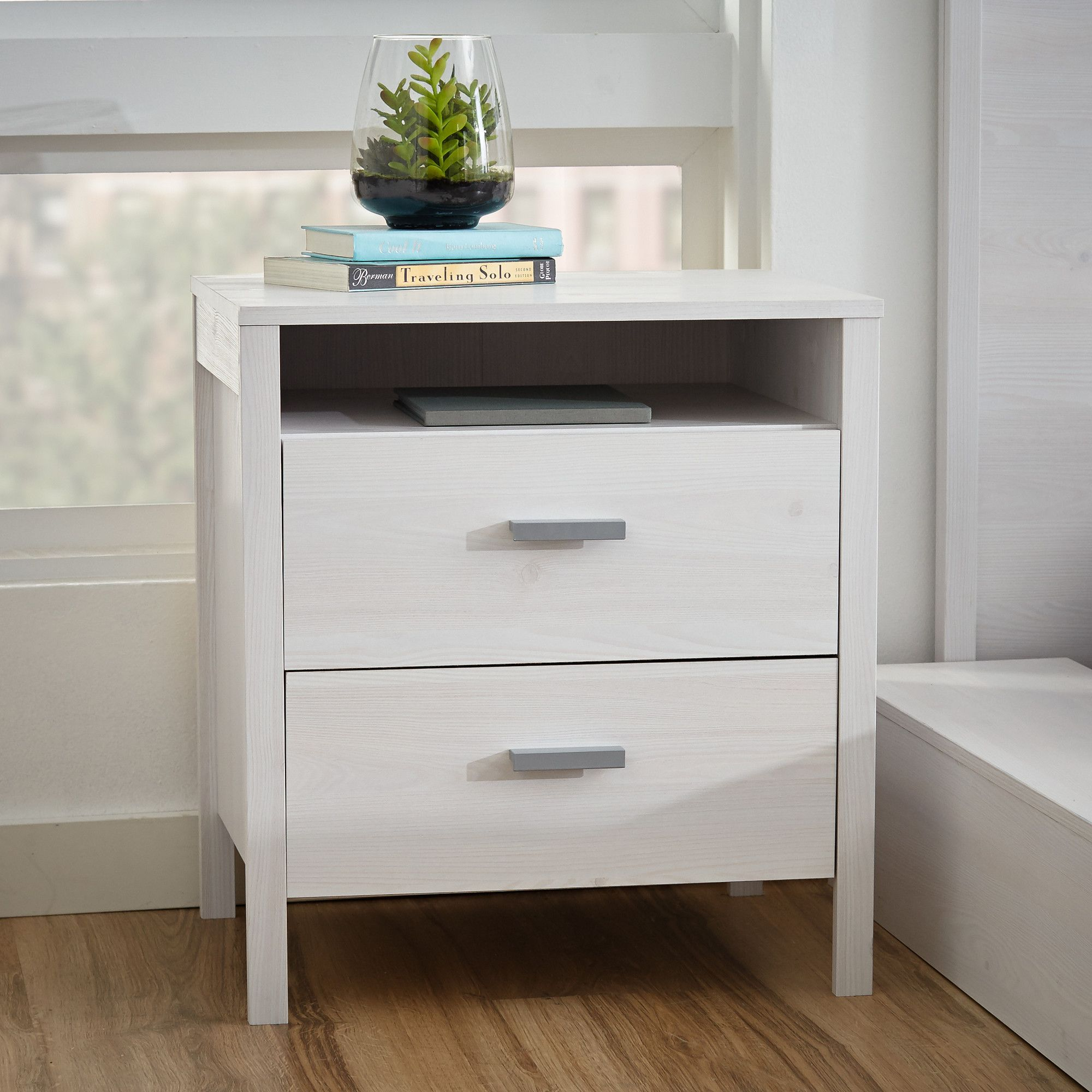 Lorraine 2 Drawer Nightstand Reviews Allmodern Mesa De