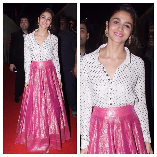 44c7274636e5cd Get The Look  Alia Bhatt In Shirt And Lehenga -  AliaBhatt  Bollywood   fashion  style