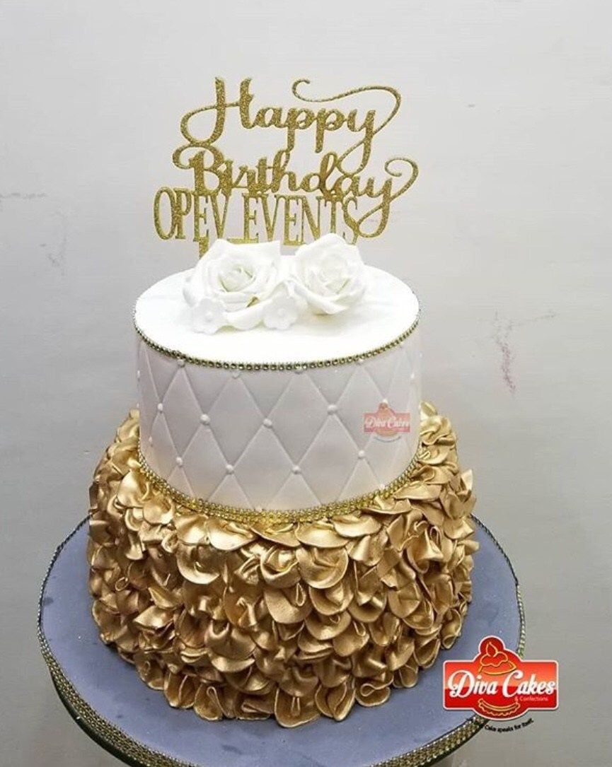 Wondrous 20 Elegant White And Gold Cake Designs Cake Designs Gold Funny Birthday Cards Online Alyptdamsfinfo