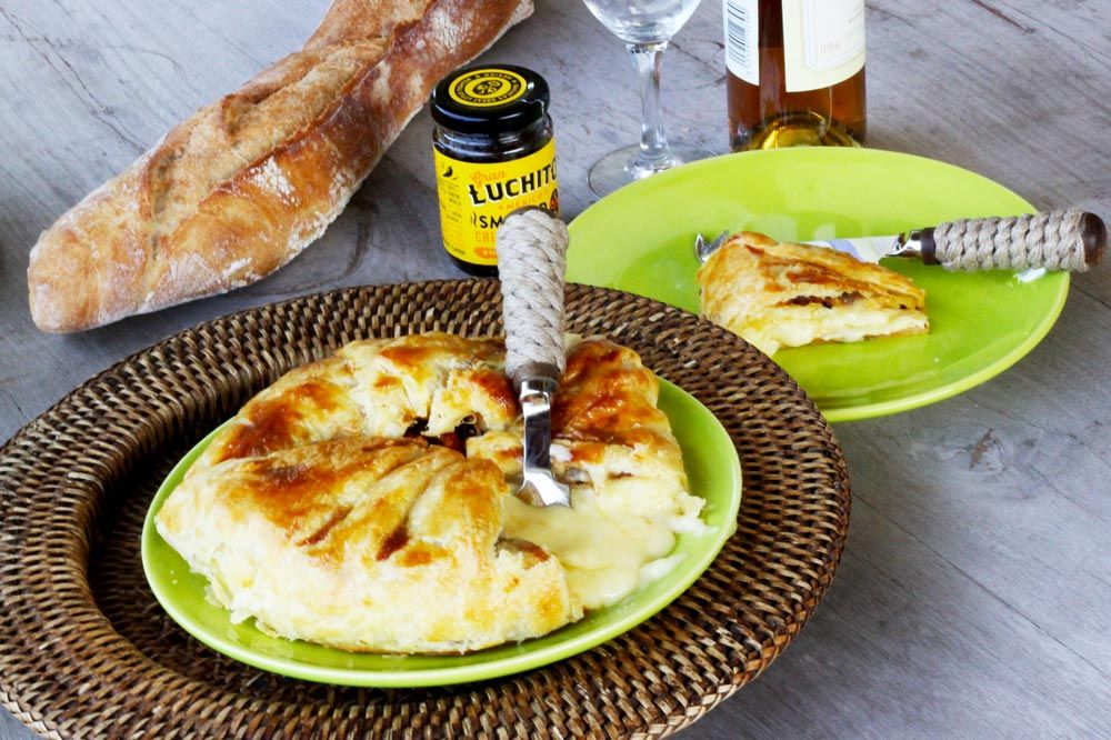 Smoked Chilli Honey Baked Camembert