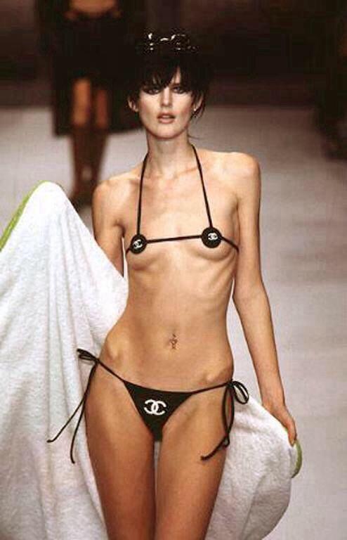 f7f0ba47ed Stella Tennant for Chanel swimwear ss96