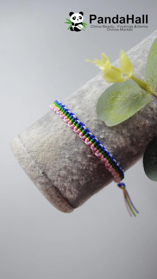 PandaHall vidéo: bracelet en cordons tressés