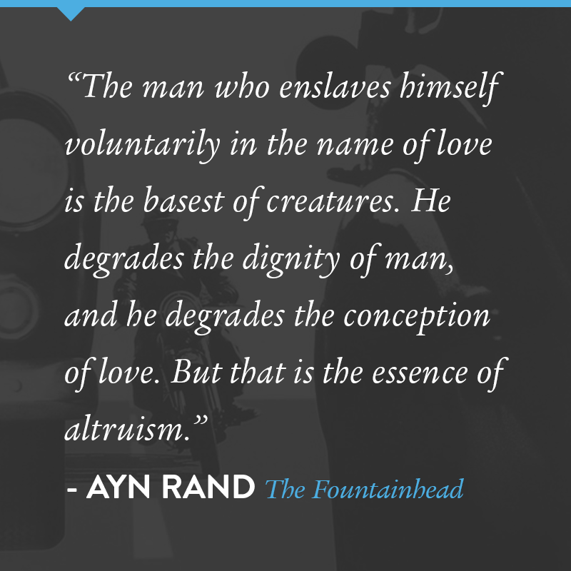 A Quote From The Fountainhead By Ayn Rand Literature Empowering Quotes Essay