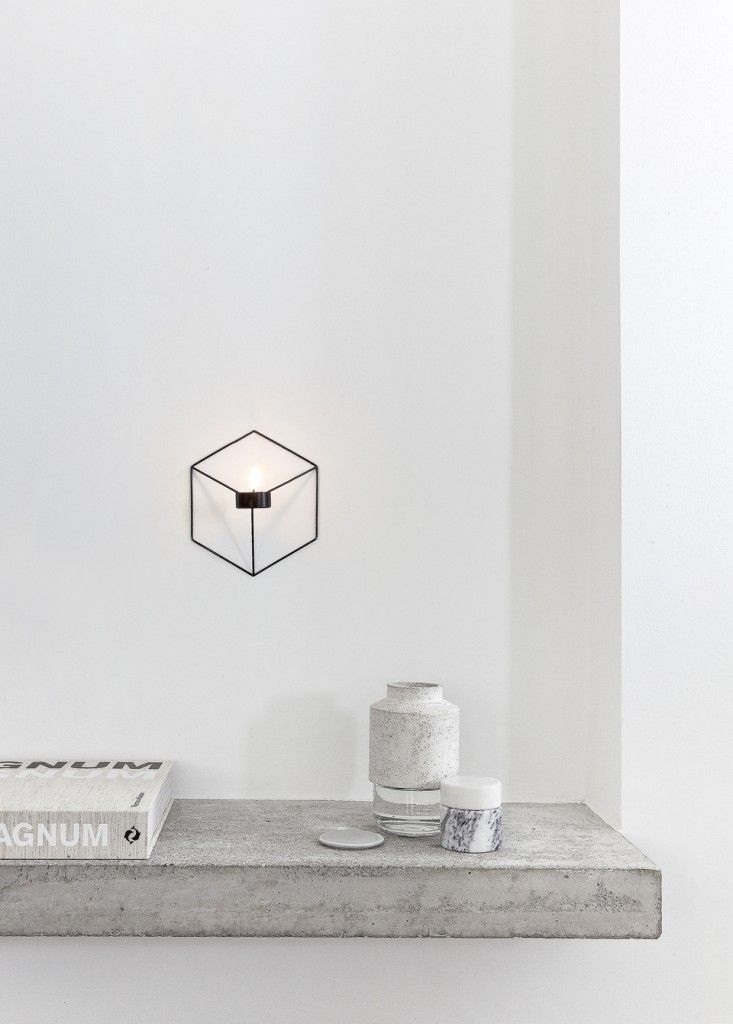 POV stainless wire candleholder