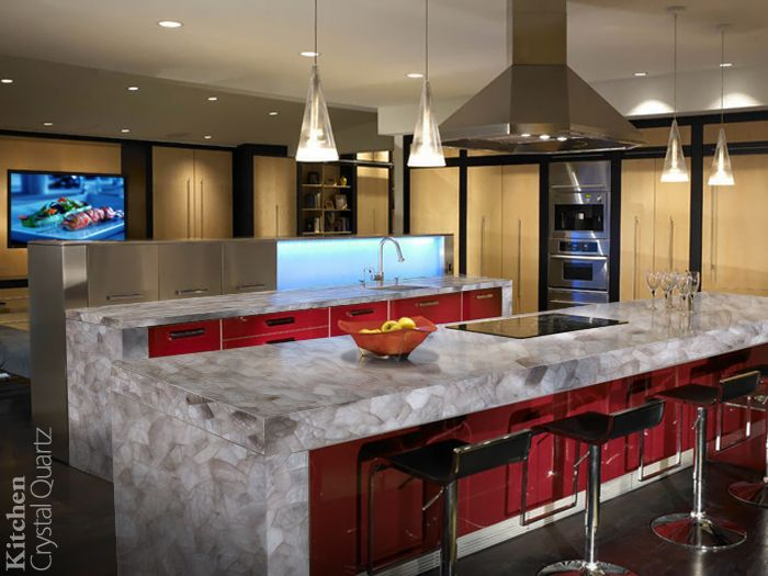 A quartz surface is exceptionally tough with all the luster making