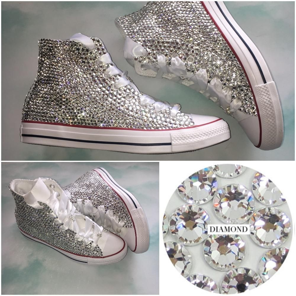 All Star Original High Top Style Converse With Crystal