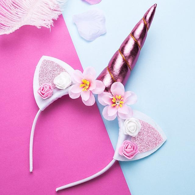 Cat Ears Headband- Custom Colors Cat ears headband Flower cat ears headband Valentine/'s Day headband. Girls headband