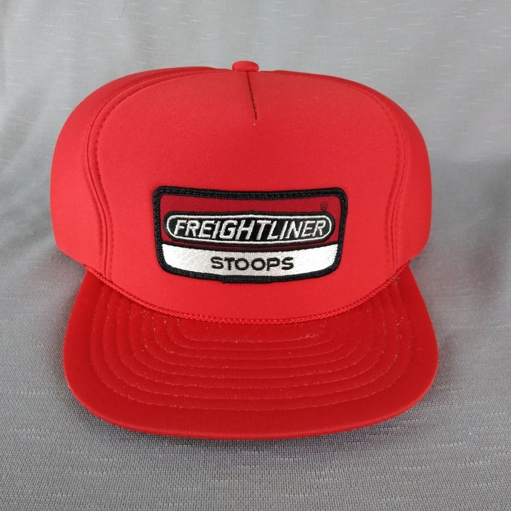 c8773814e Red Freightliner Semi Trucker Hat Snap Back Cap Embroider Patch Foam ...