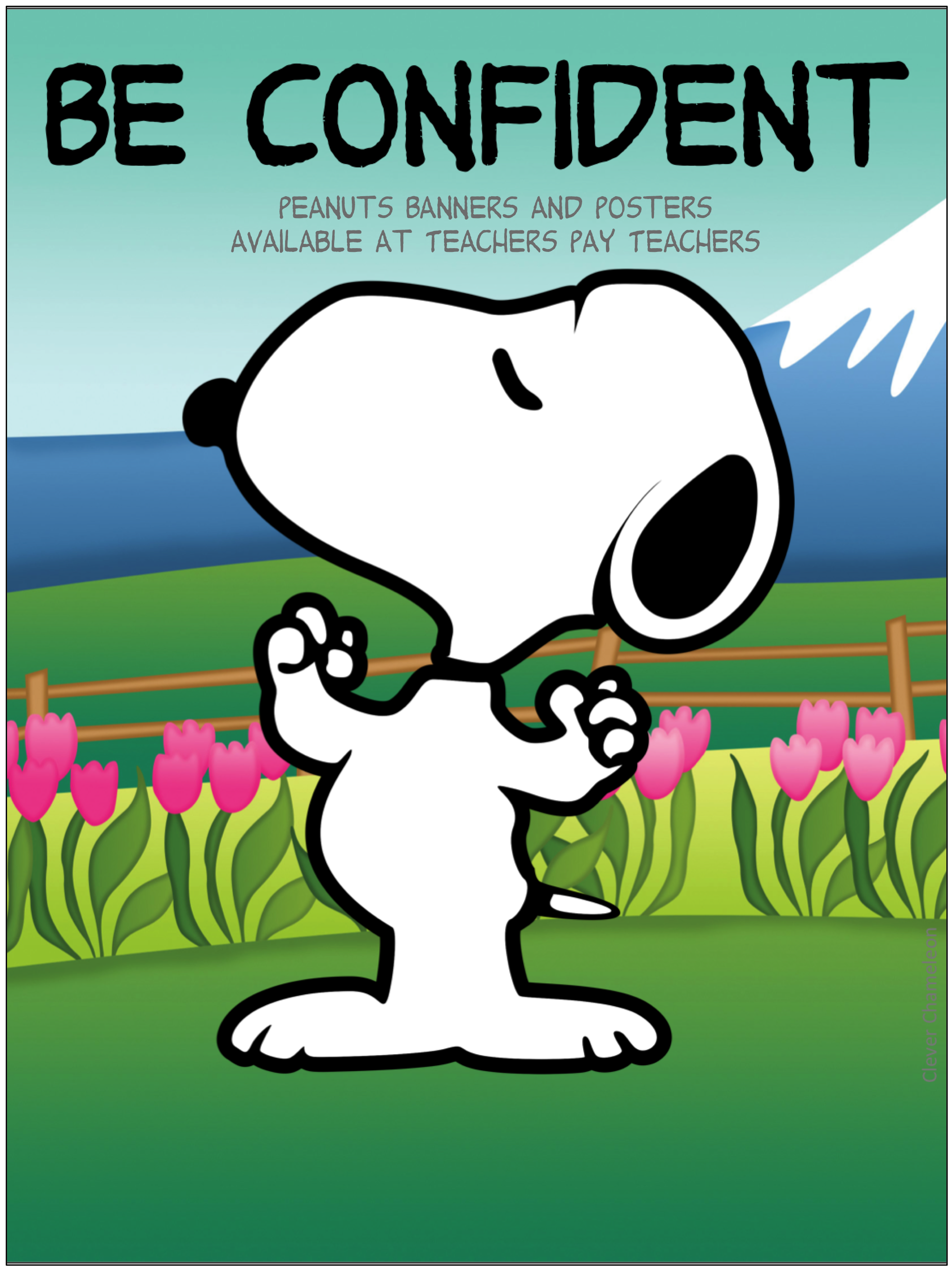 Snoopy Be Confident Poster