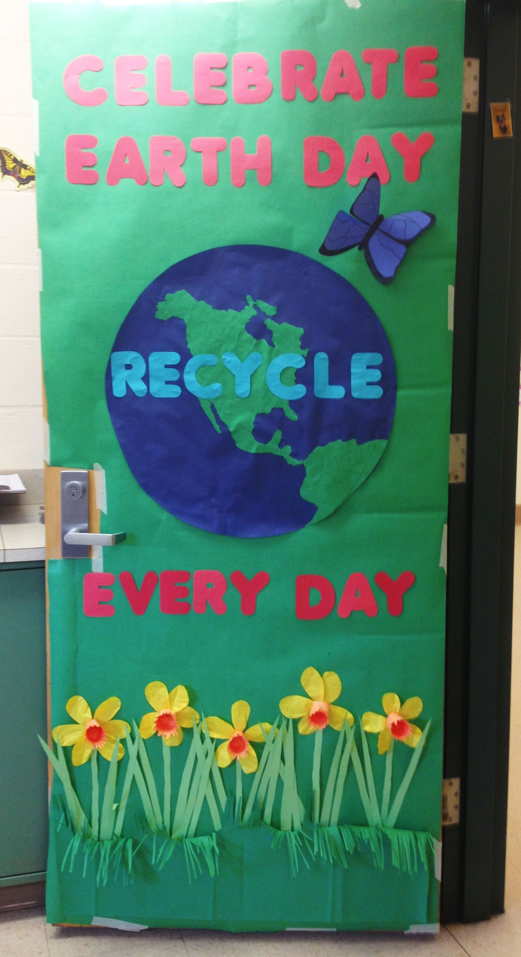 earth day door decoration came out great if i do say so