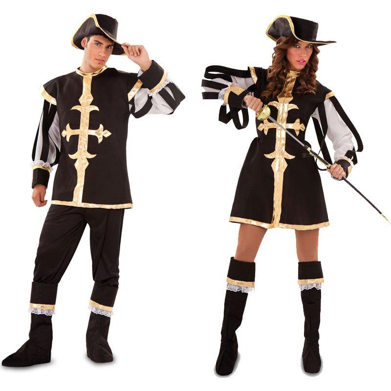 Pareja Disfraces de Mosqueteros #parejas #disfraces #carnaval
