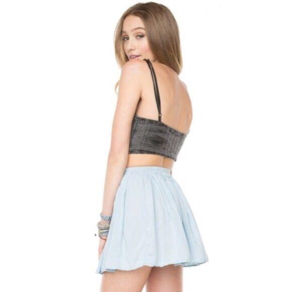 Baby blue Brandy skirt Comfy Brandy Melville skater skirt! Brandy Melville Skirts Circle & Skater