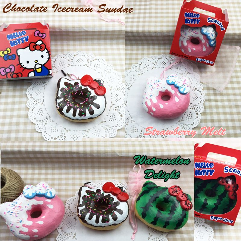 Jumbo Super squishy scented Hello Kitty Licensed Donuts in