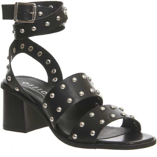 f0cd8ed5181 Office Fan Girl Studded Sandals ($99) ❤ liked on Polyvore featuring ...