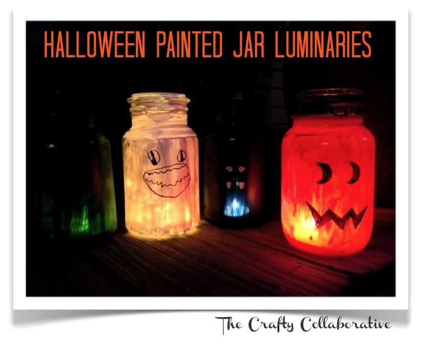 We Tried It! Totally cute and easy Halloween Painted Jar Luminaries - halloween jar ideas