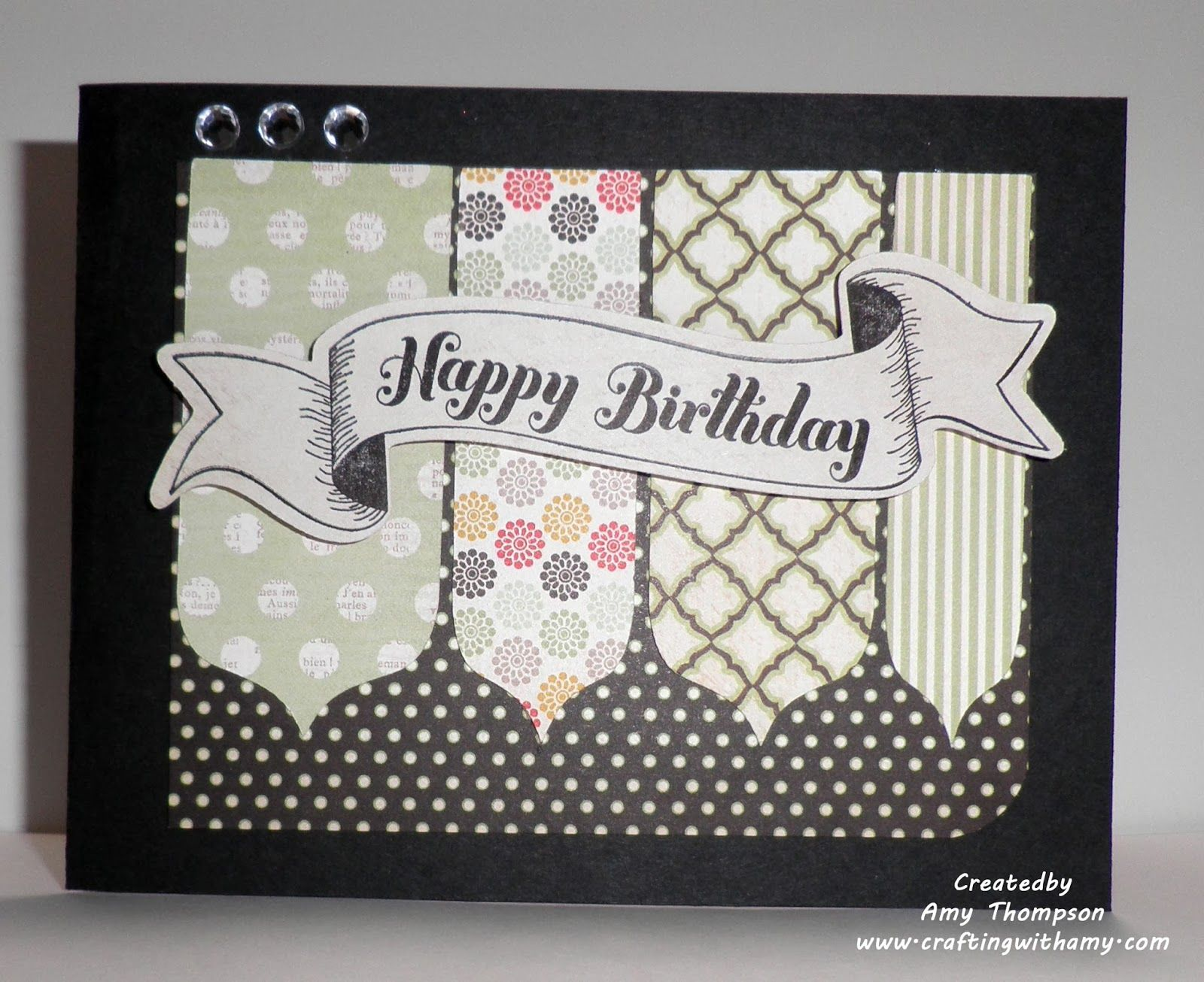 Crafting with Amy: Happy Birthday banner card
