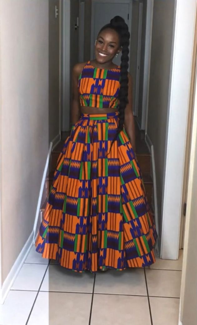 African Kente Cloth Prom Dress Prom Pinterest African Fashion