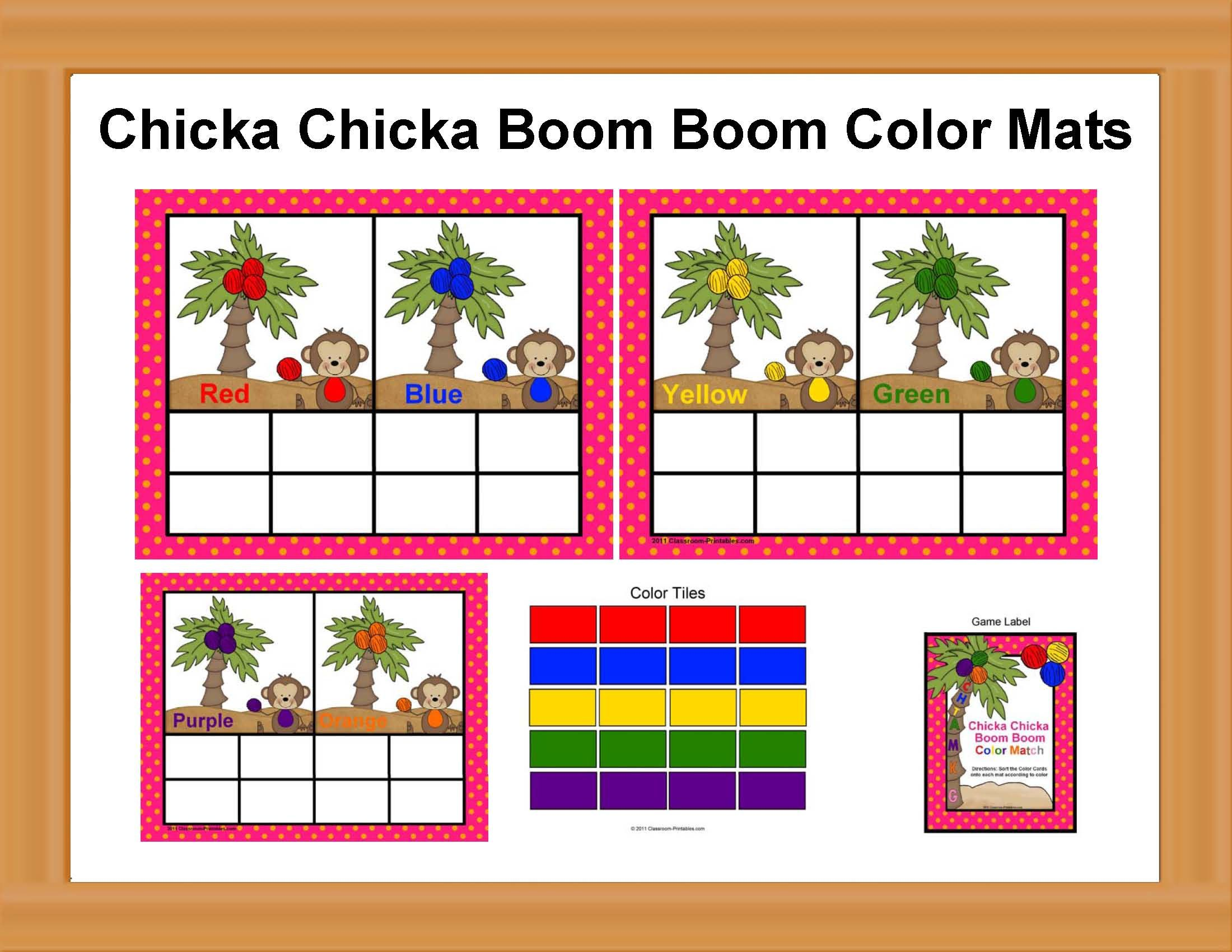 Chicka Chicka Boom Boom Color Match