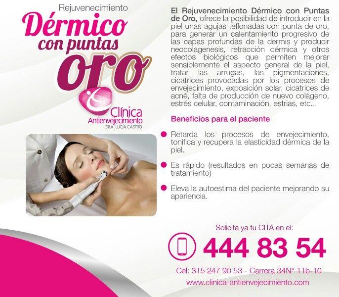 Rejuvenecimiento facial Dermico gold tips