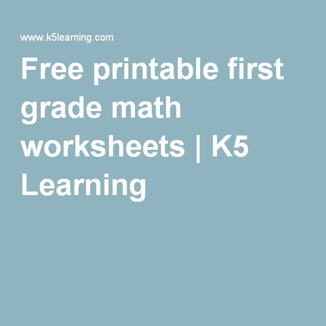 Free printable first grade math worksheets | K5 Learning | Oli ...