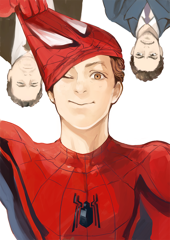 Spider man homecoming peter parker tony stark happy hogan marvel pinterest h ros and - Tony parker dessin anime ...