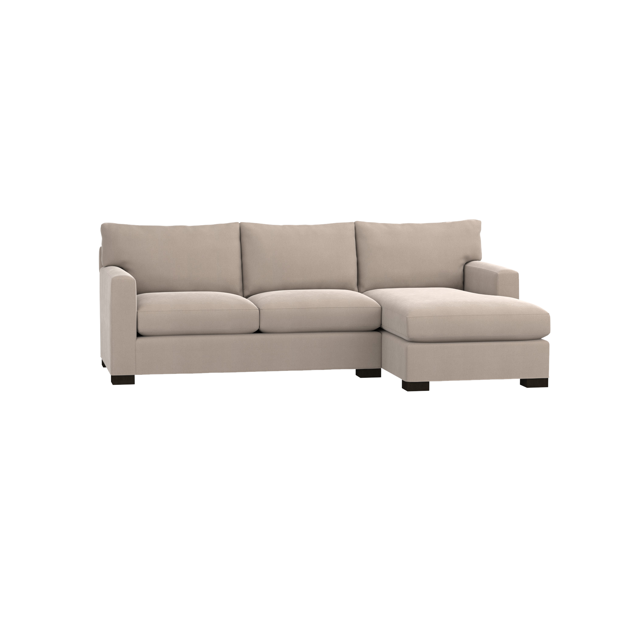 Shop Axis Ii Small Sectional Sofa Track Arms Create A
