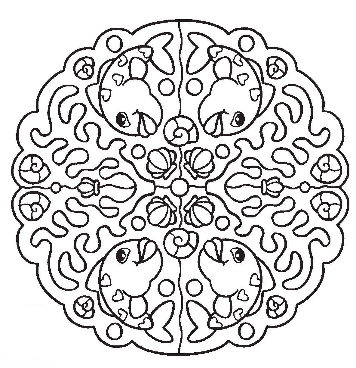 Mandala Vissen Mandala Coloring Pages Coloring Pages Mandala Coloring