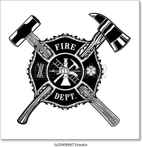 Firefighter Cross Ax And Sledge Hammer Firefighter Cross Firefighter Logo Firefighter
