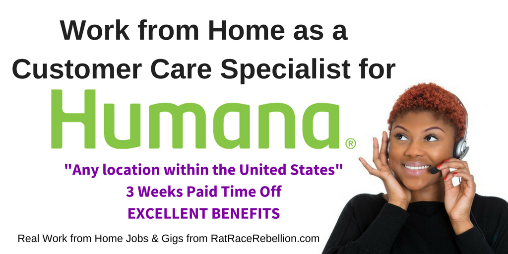 Humana Now Hiring Work at Home Customer Care Specialist