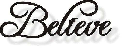 Metal Sign Wall Decor Simple Believe Sign  Metal Art  Wall Decor  The Secret ~ Inspirational Decorating Design