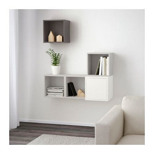 wall mounted cabinet combination eket white light gray dark gray in rh pinterest com