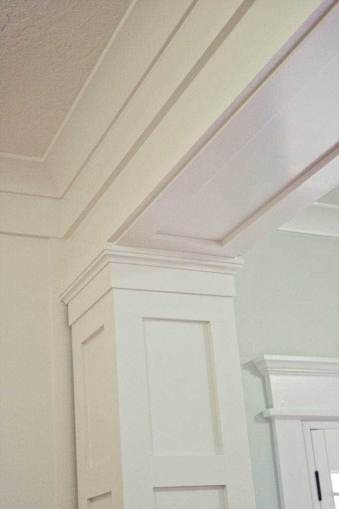 Soffit Around Ductwork Crown Molding Reference Support Beam Posts