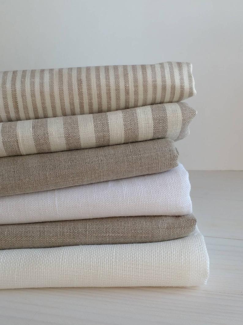 100 Tela De Lino Tela De Lino De Rayas Lino Natural Tela Etsy Natural Linen Fabric Linen Fabric Fabric Inspiration
